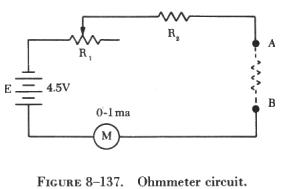 Ohmmeters also How To Interface I2c External Eeprom 24 together with The Relationship Between The Input And Output Of An Ldr together with Ohmmeter besides EXP 3. on ohmmeter circuit diagram resistor connected to