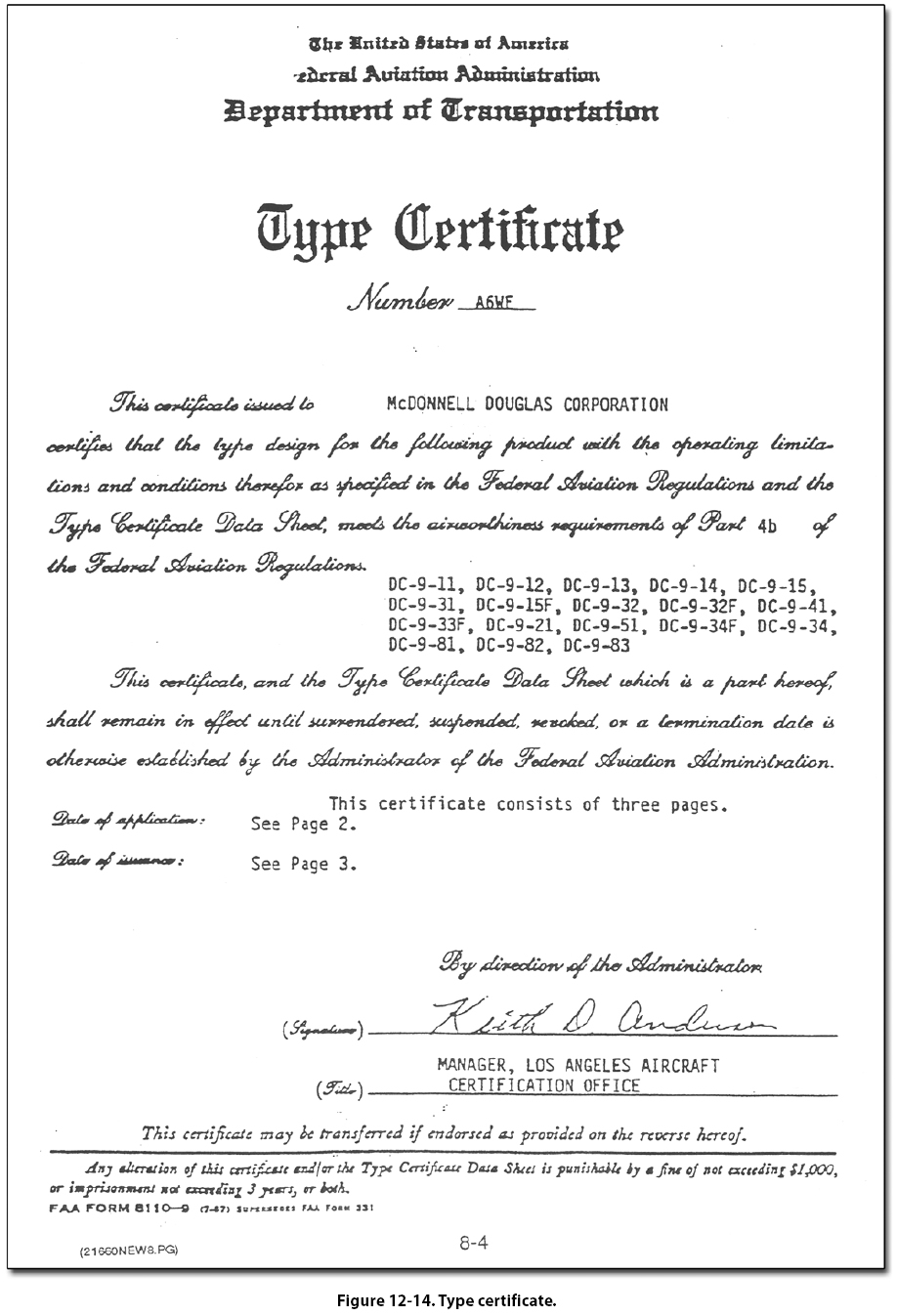 Fig1214g type certificate data sheets were originated and first published in january 1958 14 cfr part 21 2141 indicates they are part of the type certificate xflitez Gallery