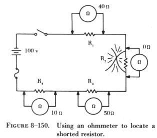 BASICCIRCUIT2 Ohm Meter Schematic on
