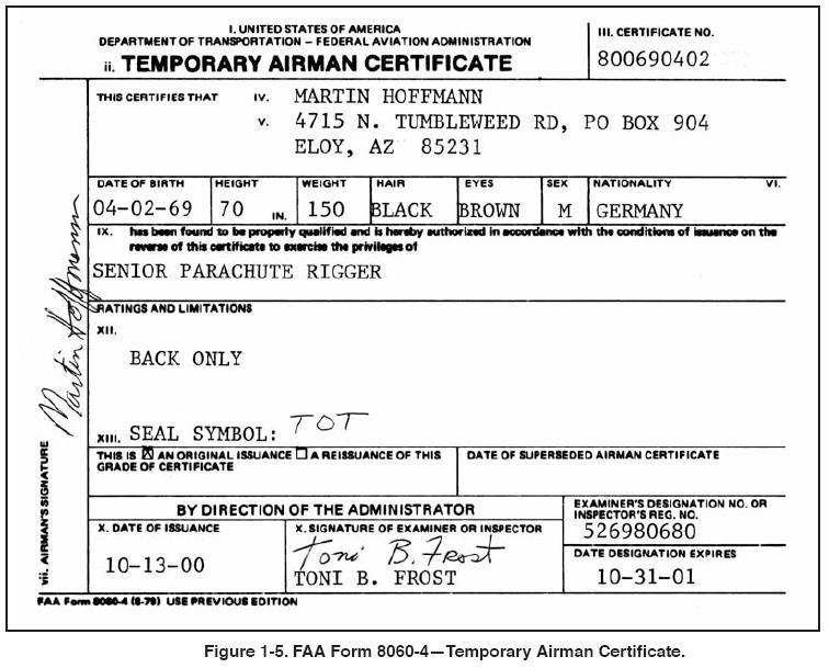 Free Resume Format » faa repairman certificate | Resume Format