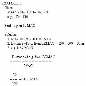 Chapter 3 empty weight center of gravity the cg location and various limits are then expressed in percentages of the mac the following are typical computations to use in finding the cg sciox Image collections