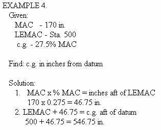 Chapter 3 empty weight center of gravity proportion formulas can be readily adapted to the conversion of mac to inches from datum a typical problem solved by sciox Image collections