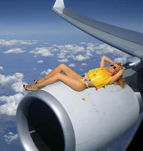 Nude flight attendant calendar photo 550